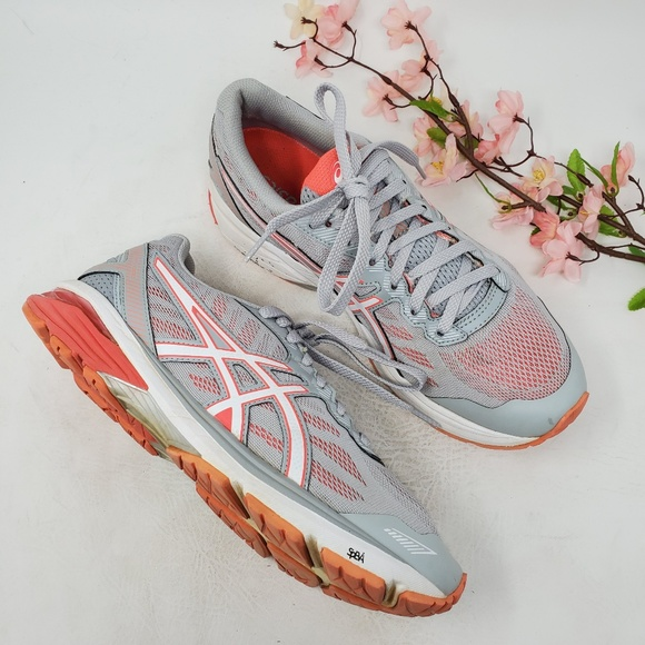Asics Shoes - Womens ASICS GT 1000 Gray Orange Running Shoes 10
